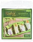 Ricefield Reispapier, viereckig, 16 cm, 4er Pack (4 x 300 g Packung)