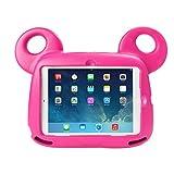 Travellor–Funda Carcasa EVA oso niños antigolpes funda protección con asa soporte para Apple iPad 9.72017, iPad Air 2, iPad Air rosa Rosa