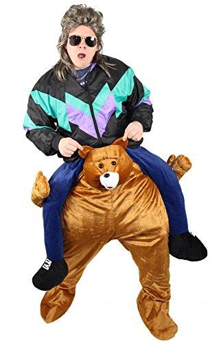 y Me Bären Kostüm Huckepack Kostüme Aufsitzkostüm Tier Teddybär für Erwachsene Herren Damen ()