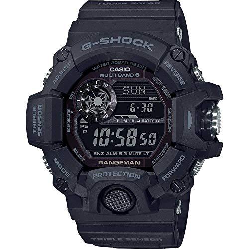 Casio G-Shock Rangeman GW-9400-1BER - Reloj Resistente a los Golpes, Solar y radiocontrolado.