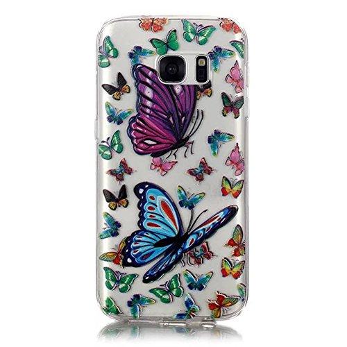 Custodia trasparente per iPhone 5/5S, custodia in gomma trasparente per iPhone SE, marca Toyym, con motivo animale o fiore colorato, per ragazza. Design sottile, realizzato in eco-silicone TPU morbido Colour-1