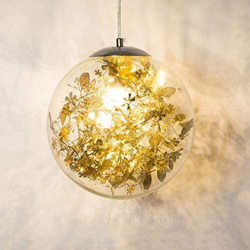 ZONA Nordic Modern Minimalistische Glas Kronleuchter Persönlichkeit Kreative Kunst Beleuchtung Lampe Durchmesser 25cm Gold Abschnitt Silber Arbeitszimmer Restaurant Showroom Küche Hotelzimmer 5-10 Qua