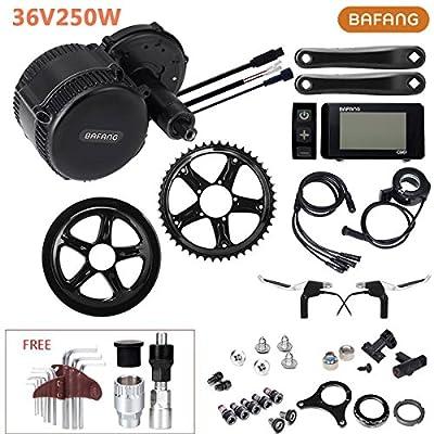 8Fun E-bike Conversion Kit 36V 250W 80N.m Bafang Motor Mittel Motor Fahrrad Umbausatz mit LCD-Display