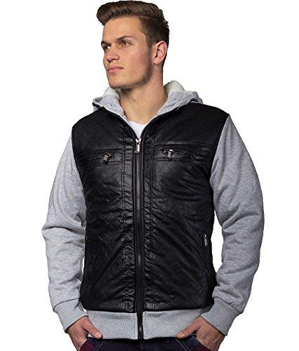 Herren Jacke Übergangsjacke mit Kapuze Ottawa ID1343 Grau