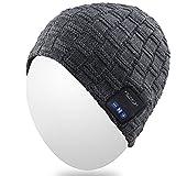 4a2884ab7a47 Qshell Hiver Trendy Court sans Fil Bluetooth Beanie Hat Cap pour Hommes  Femmes avec Haut-