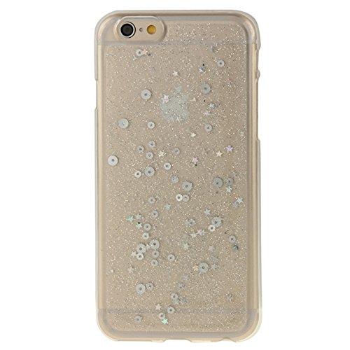 YAN Für IPhone 6 / 6S, zweifarbige Star Sequins Flash Powder Serie TPU Schutzhülle ( Color : Silver ) Silver