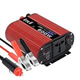imoli 600W Power Inverter, Car Voltage Converter Peak Power 1200W Dual USB Ports AC 1 AC Outlet with Cigarette Lighter Modified Sine Wave DC 12V to AC 220V Transformer