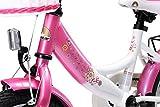 BIKESTAR® Premium Kinderfahrrad für sichere und sorgenfreie Spielfreude ab 3 Jahren ★ 12er Classic Edition ★ Flamingo Pink & Diamant Weiß -