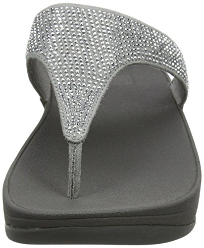 FitFlop Damen Slinky Rokkit T-Strap Sandalen Silber (Silver) C65_30