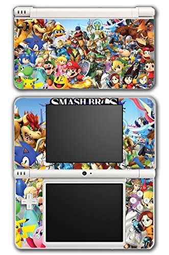 Super Smash Bros Melee Brawl Mario Pikachu Yoshi Mega Man Zelda Sonic Metroid Video Game Vinyl Decal Skin Sticker Cover for Nintendo DSi XL System by Vinyl Skin Designs - Mario Ds Sonic Und
