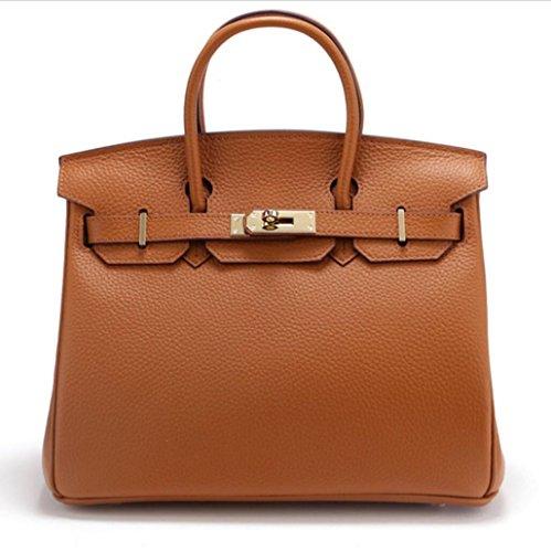 Damen Schultertaschen Leather Platinum Tasche Litchi Diagonale Tasche 7