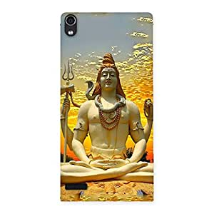 Special Shiva Samadhi Print Back Case Cover for Ascend P6