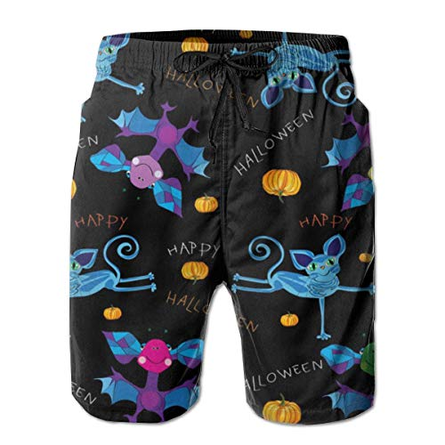 LarissaHi Herren Shorts Happy Halloween Kinder Badehose Quick Dry Board Shorts Sommer Badehose für Running XL