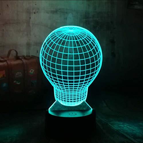 Neue Weihnachtsgeschenk 3D LED Nachtlicht 7 Farben Ändern Glühbirne Form Illusion Schreibtischlampe Geschenk Hause Einzigartiges Spielzeug Für Jungen (Spielzeug Für Einzigartige Jungen)