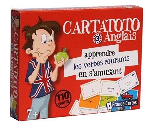 Cartatoto anglais niveau 3 apprendre les verbes courants