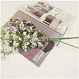 10 tallos de marfil con un toque verdadero, lirios artificiales de calla y flor de seda; de látex con tallo para decoración de fiestas, de la oficina, de casa, bodas