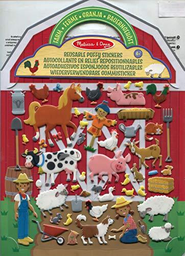Melissa & Doug Aktivitätenbuch mit wiederverwendbaren Gummistickern - Bauernhof (52 Sticker) (Doug Melissa Spielzeug Und)