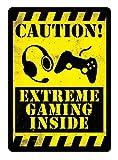 Shunry Gamer Geek Vintage Plaque Affiche Étain Métal Mur Signe Rétro Décoration pour Bar Café Garage Gaz Station Accueil Club