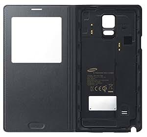 Samsung EP-VN910IBEGWW Etui S-View avec Chargeur pour Samsung Galaxy Note 4 Noir