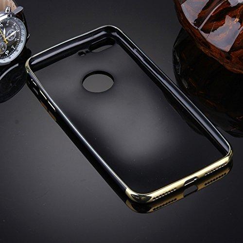 Buona Casa- Per il caso di copertura protettiva TPU di specchio per iPhone 7 Plus ( Color : Black ) Gold