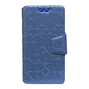 Jo Jo Cover Aarav Series Leather Pouch Flip Case With Silicon Holder For Huawei G620S Exotic Blue