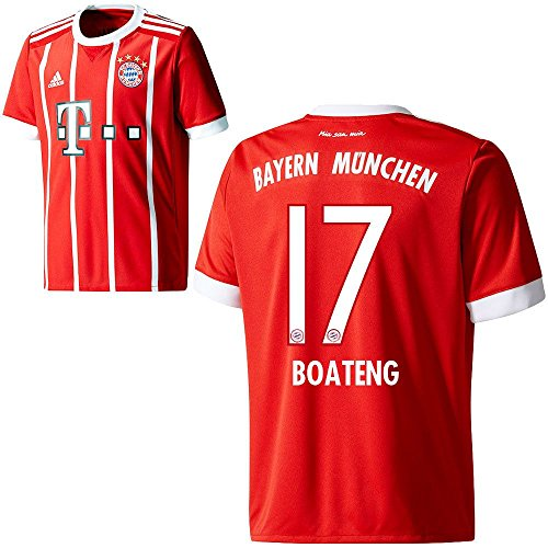 adidas FC Bayern München FCB Kinder Home Trikot 2017 2018 Jerome Boateng 17 Gr 140