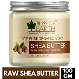 Bliss of Earth 100% Pure Organic Shea Butter, Ivory, 100g
