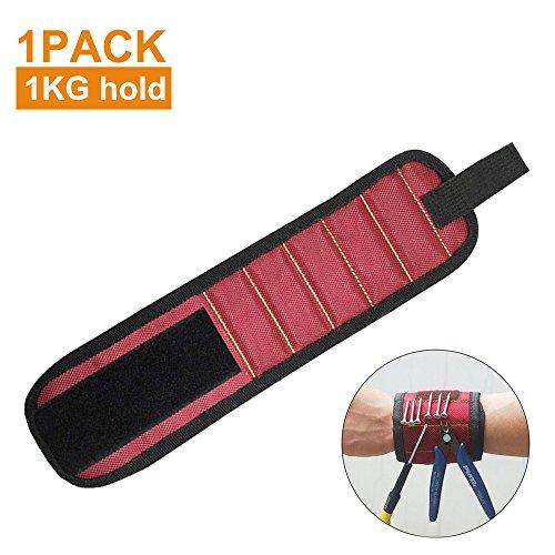 Bracelet magnétique de marque Pyhot, retient, ramasse, transporte jusqu'à 1kg de petits outils, vis, clous, boulons, gadgets, 35x 9cm