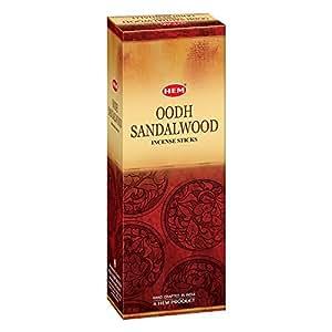 Hem Oodh Sandalwood  Incense Sticks(9.3 cm X 6.0 cm X 25.5cm, Black )