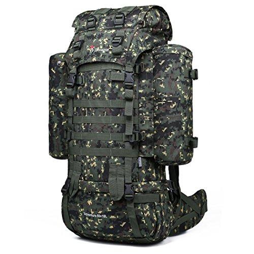 Mountaintop 65l+10 zaino militare / tattico molle / campeggio / zaino di assalto / escursionismo / sport / patrol camping