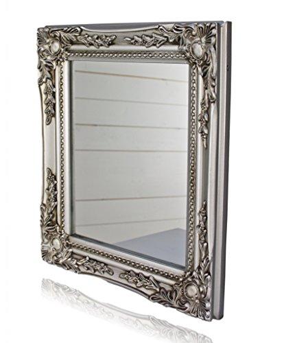 garderobe silber Spiegel Wandspiegel barock silber antik HOLZ Landhaus Cottage Badspiegel NEU