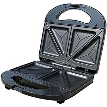 Mellerware ST01 750-Watt Sandwich Toaster (Black/SS)