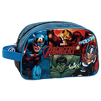 Marvel Avengers Neceser de Viaje, 3.36 litros, Color Negro