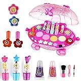 Qwhome Mädchen-Make-up-Set, Make-up-Set, Mädchen-Make-Up, Make-up-Kit, Puder-Kuchen-Puff-Lidschatten-Nagellack-Make-up-Pinsel usw