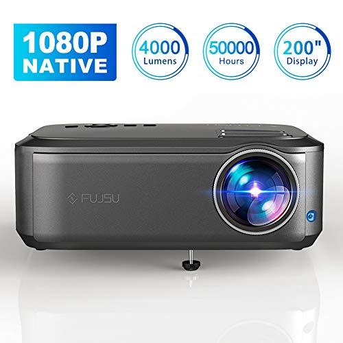 """Beamer Full HD 1080P Native, 4000 Lumen Max 200\"""" Zoll LED LCD Video Projektor mit Presenter kompatibel mit HDMI / VGA / Y.Pb.Pr/ AV / USB für Office Powerpoint Präsentationen Heimkino"""