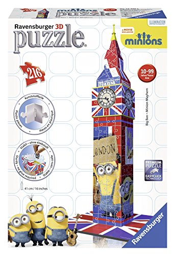 Ravensburger - Puzzle 3D, diseño Big Ben, Minions (12589 0)