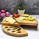 Home Treats - Taglieri da formaggio, in bambù, 3 misure e design disponibili Rotondo Marrone