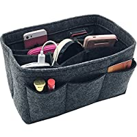 Handbag Organiser Insert Tidy Pockets Felt Purse Organiser for Women Cosmetic Storage