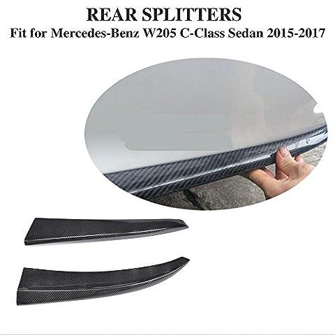 Répartiteur jcsportline fibre de carbone pare-chocs arrière pour Mercedes Benz W205Classe C Sport 2015up 2/set