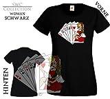 T-Shirt woman - Kartenspiel Casino Karten SWC Größe XXL