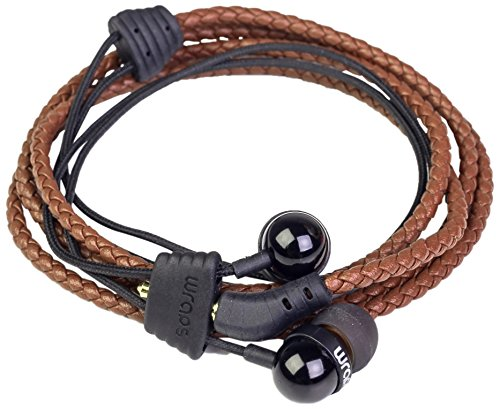 Wraps Midbass In-Ear-Kopfhörer Leder Wrap Braun