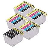 PerfectPrint T1816 - Compatible Tinta Cartucho Reemplazo Para Impresoras Epson 18XL, Negro/Cian/Magenta/Amarillo, paquete de 20