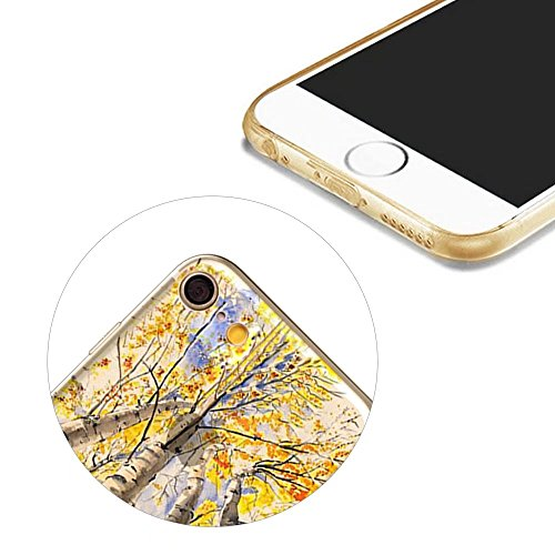 MOMDAD iPhone 6S Plus Coque iPhone 6S Plus 5.5 Pouces Housse Etui Anti chocs Back Cover Bumper Case Anti Scratch Shock Absorption pour iPhone 6 Plus/ 6S Plus 5.5 Pouces Transparente Coque TPU Souple C Art tree-2