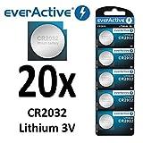 20 x everActive CR2032 Lithium 3Volt! CR 2032 BLISTER NEU Ø 20mm , Höhe 3,2mm