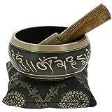 golden tibetano per il meditazione ciotola canto buddista e arredamento arte nera da 4 pollici
