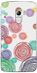URBAN KOLOURS Original Designer Printed Clear Case Back Cover for Lenovo K4 Note (Colour Scrible-Clear)