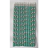 12x Bleistifte Einhorn Stift Schreibstift + Radierer Radiergummi Zeichnen türkis