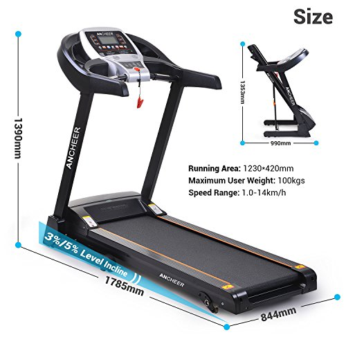 51O%2Bz%2B62uTL. SS500  - ANCHEER S8500 Treadmill APP Control, New Electric Motorised Treadmill Machine Folding Running Machine with 2 Levels Manual Incline
