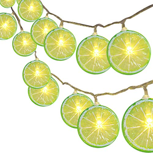 VBWER Lemon Fairy Lights con 20 LED decorazioni per la casa natalizie a batteria