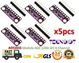 5pcs I2C ADS1015 12-bit Precision ADC 4 Channel Converter Module Development Board Module with Programmable Gain Amplifier | 5 stücke AD10 AD10 Modul Super Mini 12 Byte Präzision Analog Digital Converter Entwickeln Karte